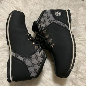 Authentic Timberland Boots w/ Gucci Print USA